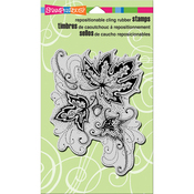 """Autumn Points - Stampendous Cling Stamp 7.75""""X4.5"""""""