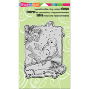 """Birdie Greetings - Stampendous Cling Stamp 7.75""""X4.5"""""""