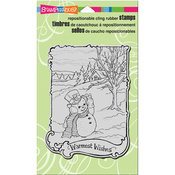 "Warmest Wishes - Stampendous Cling Stamp 7.75""X4.5"""