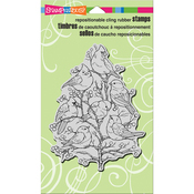"Bird Tree - Stampendous Cling Stamp 7.75""X4.5"""
