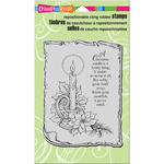 """Parchment Candle - Stampendous Cling Stamp 4""""X6"""""""