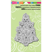 "Dog Tree - Stampendous Cling Stamp 7.75""X4.5"""