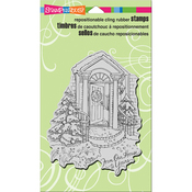 """Our Doorstep - Stampendous Cling Stamp 4""""X6"""""""