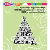 """Tree Wish - Stampendous Cling Stamp 3""""X2.5"""""""