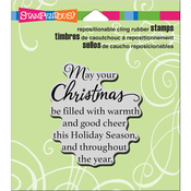 "Good Cheer - Stampendous Cling Stamp 4.75""X4.5"""