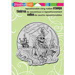 """Pirate Cove - Stampendous Cling Stamp 6.5""""X4.5"""""""