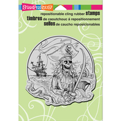 "Pirate Cove - Stampendous Cling Stamp 6.5""X4.5"""