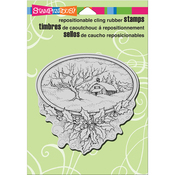 """Winter Home - Stampendous Cling Stamp 6.5""""X4.5"""""""
