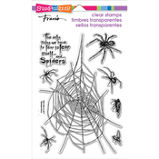 """Spider Fear - Stampendous Perfectly Clear Stamps 7.25""""X4.625"""""""