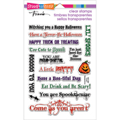"""Spooky Wishes - Stampendous Perfectly Clear Stamps 7.25""""X4.625"""""""