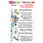 "Snowman Wishes - Stampendous Perfectly Clear Stamps 4""X6"""