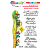 """Blessed Nativity - Stampendous Perfectly Clear Stamps 7.25""""X4.625"""""""