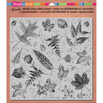"Leaves - Stampendous Decor Cling Stamp 10""X8.75"""