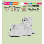 """Christmas Kiss - Stampendous House Mouse Cling Stamp 4.75""""X4.5"""""""