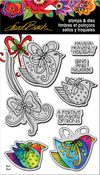 """Heavenly Holiday - Stampendous Laurel Burch Cling Stamp & Die Set 9""""X5.25"""""""