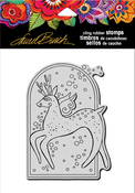 "Reindeer Spirit - Stampendous Laurel Burch Cling Stamp 6.5""X4.5"""