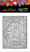 """Peace Moon - Stampendous Laurel Burch Cling Stamp 6.5""""X4.5"""""""