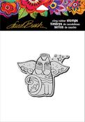 "Cat Angel - Stampendous Laurel Burch Cling Stamp 6.5""X4.5"""