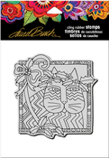 """Holly Cat - Stampendous Laurel Burch Cling Stamp 6.5""""X4.5"""""""
