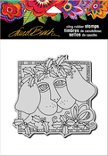 """Holly Pup - Stampendous Laurel Burch Cling Stamp 6.5""""X4.5"""""""