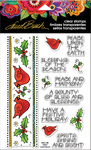 "Cardinal Border - Stampendous Laurel Burch Clear Stamps 7.25""X4.625"""