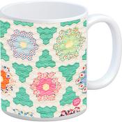 Quilt - Quilt Happy Hexagons Vintage Mug 11oz