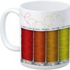 Quilt - Quilt Happy Spools Mug 11oz K1C2-Quilt Happy Spools Mug. This unique mug is great for the quilt lover in you! Ceramic mugs are top rack dishwasher safe. This package contains one 11oz mug. Imported.