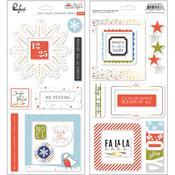 December Days Chipboard Stickers - Pinkfresh