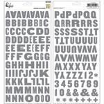 Boys Fort Alpha Chipboard Stickers - Pinkfresh