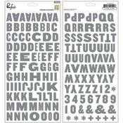 Boys Fort Alpha Chipboard Stickers - Pinkfresh