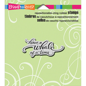 """Whale Of A Time - Stampendous Cling Stamp 4.75""""X4.5"""""""
