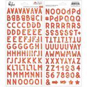 December Days Alpha Chipboard Stickers - Pinkfresh