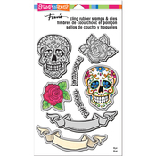"""Sugar Skull - Stampendous Cling Stamp & Die Set 9""""X5.25"""""""