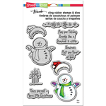 """Smiling Snowman - Stampendous Cling Stamp & Die Set 9""""X5.25"""""""