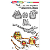 """Owl Be Home - Stampendous Cling Stamp & Die Set 9""""X5.25"""""""