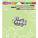 "Holiday Scrolls - Stampendous Cling Stamp 4.75""X4.5"""