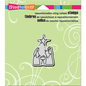 "Tiny Nativity - Stampendous Cling Stamp 4.75""X4.5"""