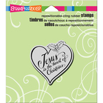 """Heart Of Christmas - Stampendous Cling Stamp 4.75""""X4.5"""""""