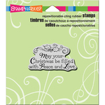 """Filled With Love - Stampendous Cling Stamp 4.75""""X4.5"""""""