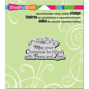 "Filled With Love - Stampendous Cling Stamp 4.75""X4.5"""