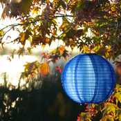 "Blue - Soji Original Round Nylon Solar Lantern 10"""