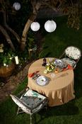 """White W/White Light - Soji Original Round Nylon Solar Lantern 10"""""""