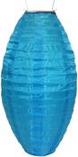"Turquoise - Soji Nylon Pod Solar Lantern 7""X15"""