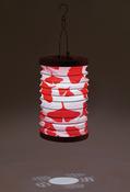 "Poppy - Soji Canvas Cylinder Solar Lantern 6""X10"""