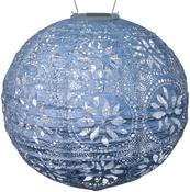 "Metallic Blue - Soji Stella Boho Globe Solar Lanter 12"""