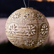 "Pearl - Soji Stella Boho Globe Solar Lanter 12"""