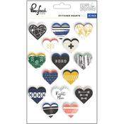 Escape The Ordinary Stiched Heart Cardstock Stickers - Pinkfresh