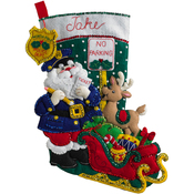 "18"" Long - Officer Santa Stocking Felt Applique Kit"