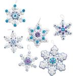 "4""X4"" Set Of 6 - Sparkle Snowflake Ornaments Felt Applique Kit"