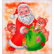 "Santa & Teddies - Diamond Dotz Diamond Embroidery Facet Art Kit 11""X11.75"""